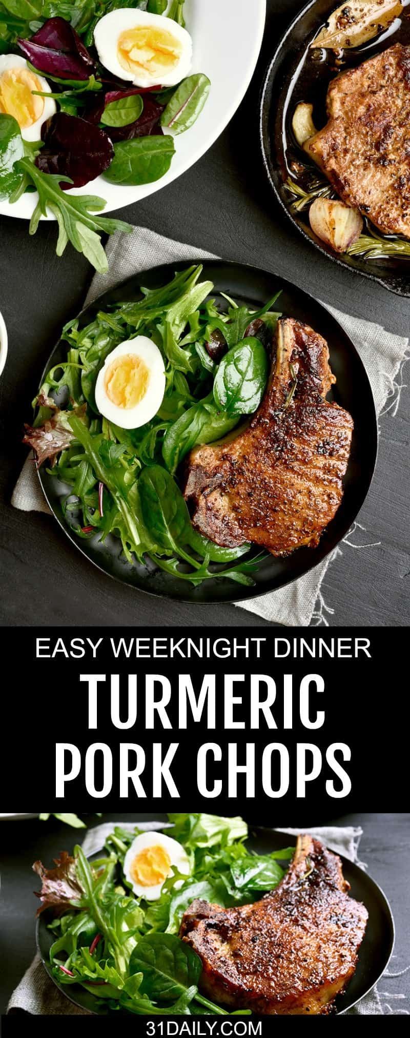 Turmeric Pork Chops for an Easy Weeknight Meal | 31Daily.com