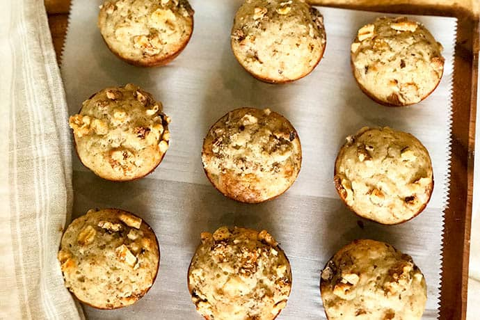 Classic Banana Nut Bread Muffins