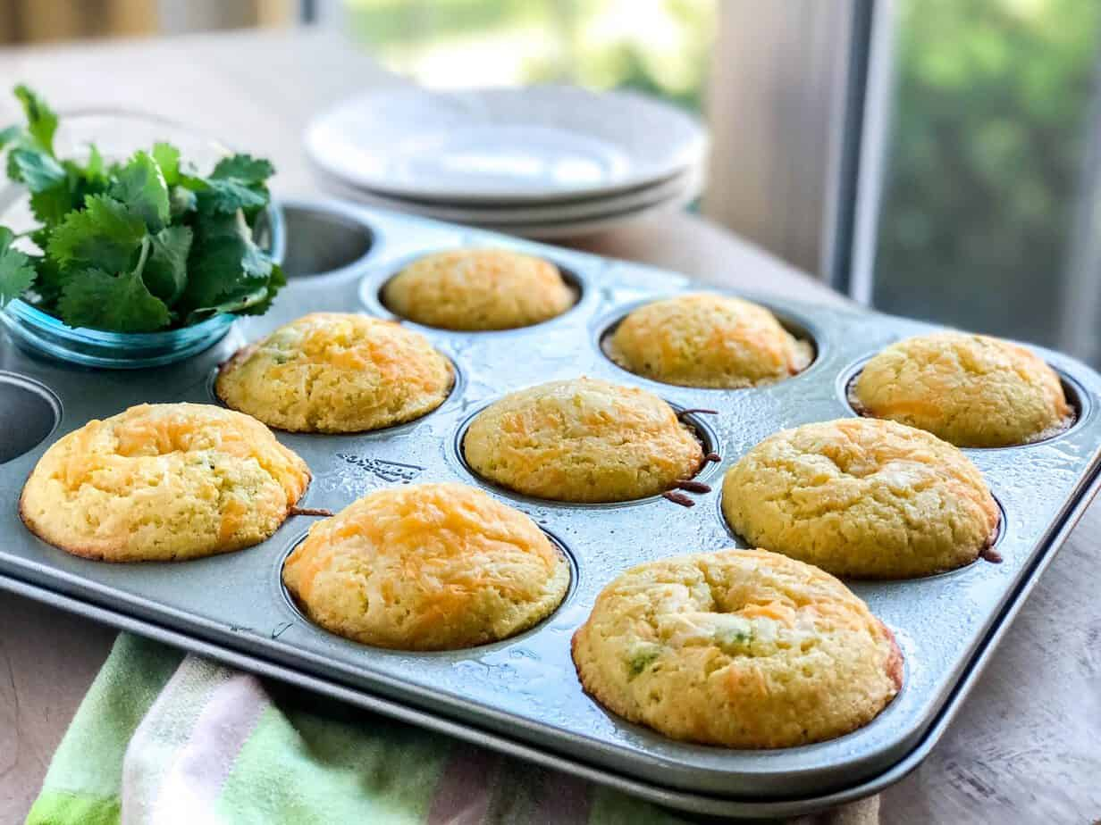 Jalapeno Popper Corn Muffins with Bacon and Cheddar | 31Daily.com