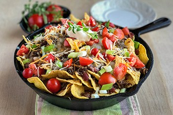 Easy Beef Skillet Nachos for your Next Party or Game Day | 31Daily.com