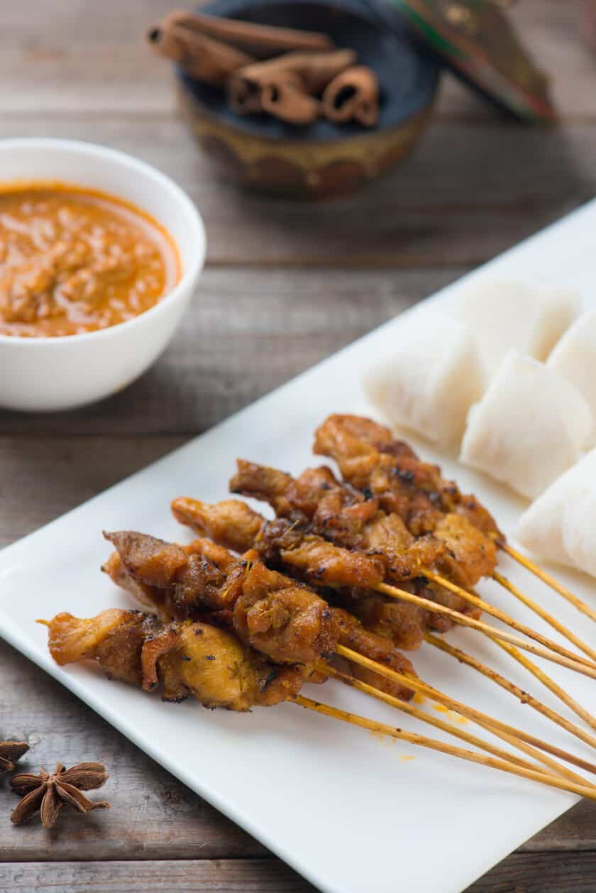Simple Chicken Satay with Malaysian Peanut Sauce | 31Daily.com