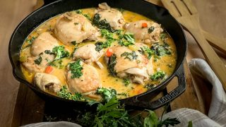 Chicken Fricassee with Kale: An Updated Classic