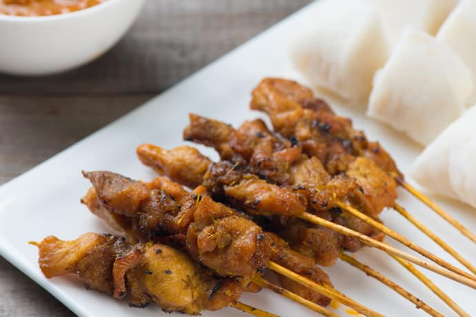 Simple Chicken Satay with Malaysian Peanut Sauce