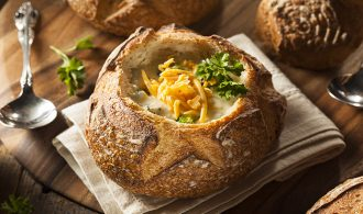 Classic Broccoli Cheddar Soup in Bread Bowls | 31Daily.com