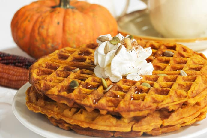 Pumpkin Waffles for Blustery Fall Mornings
