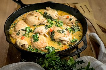 Chicken Fricassee with Kale: An Updated Classic | 31Daily.com