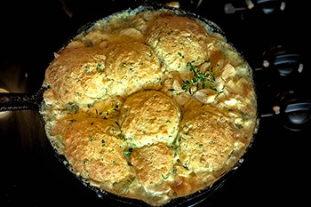 Skillet chicken pot pie with cheddar chive biscuits 31 daily skillet chicken pot pie with cheddar chive biscuits forumfinder Images