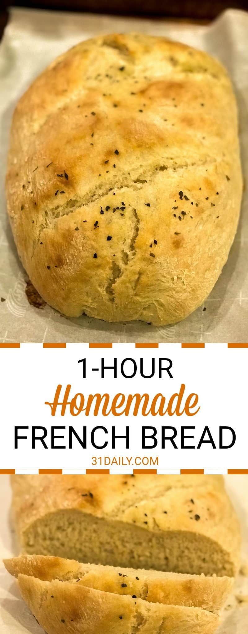 1 Hour Homemade French Bread Fresh From Your Oven | 31Daily.com