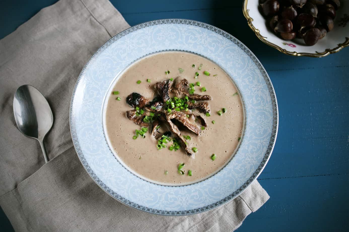 Creamy Chestnut Mushroom Soup | 31Daily.com