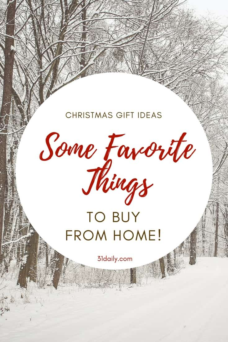 Cozy Favorite Things Gift List to Buy From Home | 31Daily.com