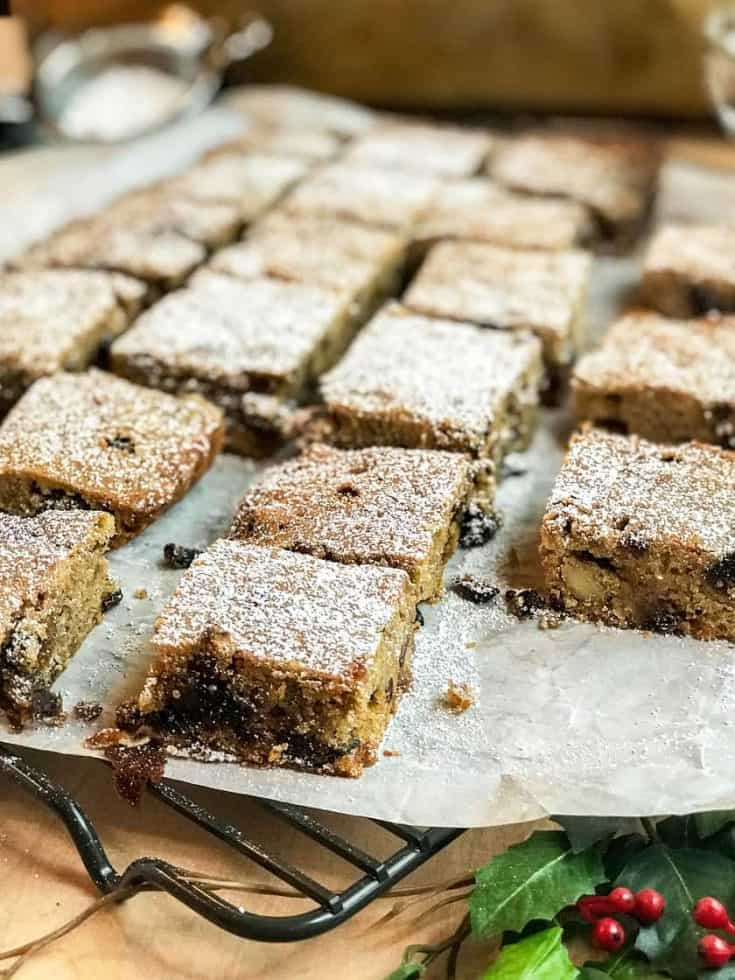 Holiday Fruitcake Bars with Figs and Plums