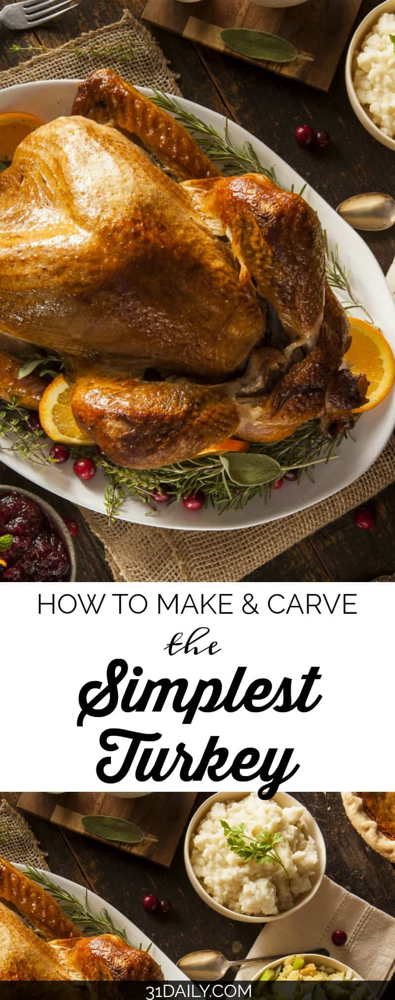 How to Make and Carve the Simplest Turkey | 31Daily.com