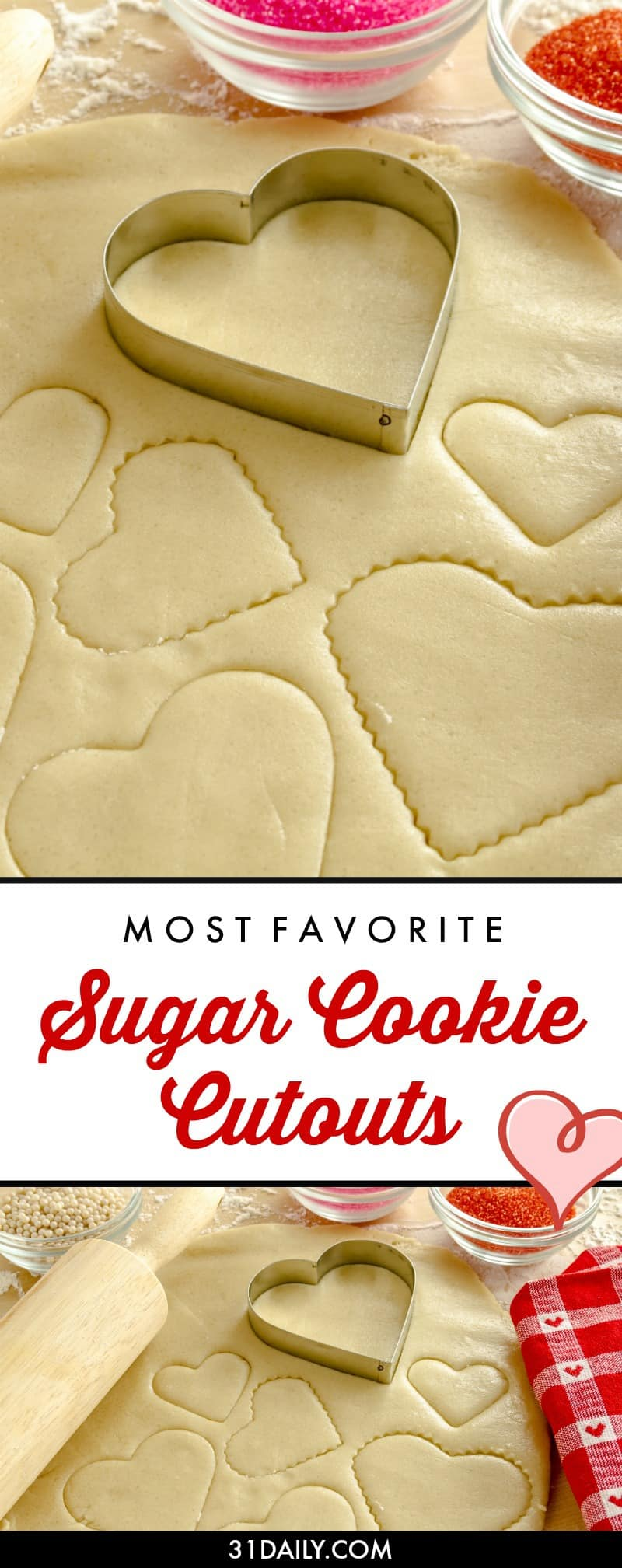 A Favorite Sugar Cookie Cutouts Recipe I Use Every Year | 31Daily.com