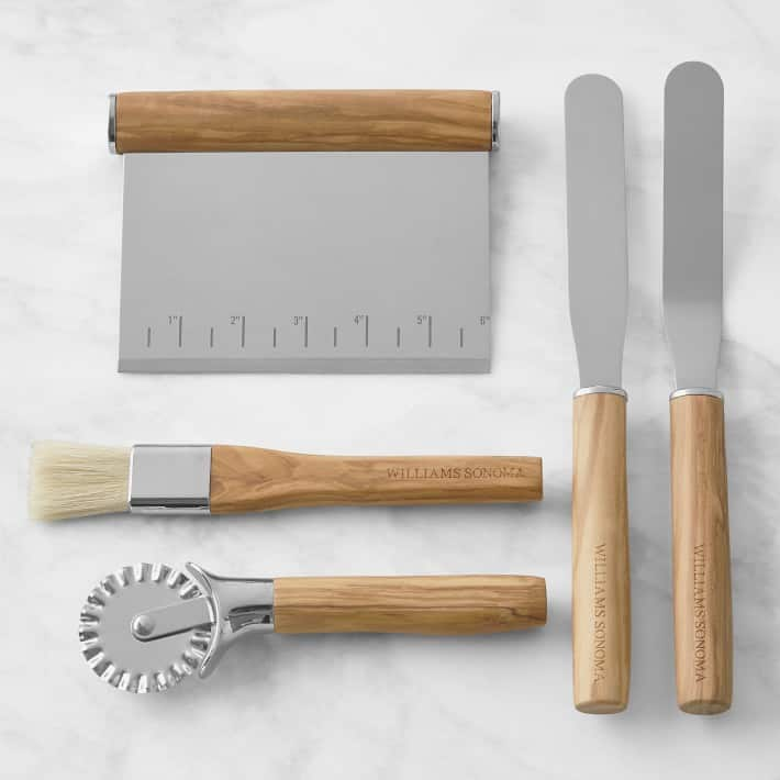 Williams Sonoma Olivewood Pastry Tools, Set of 5