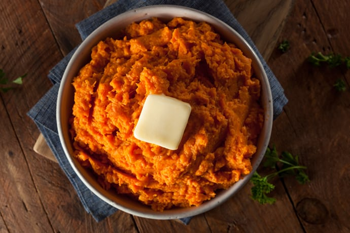 Maple Spiced Slow Cooker Mashed Sweet Potatoes