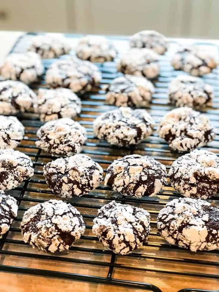 Double Chocolate Crinkle Cookies with Espresso