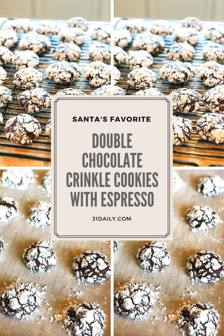 Double Chocolate Crinkle Cookies with Espresso   31Daily.com