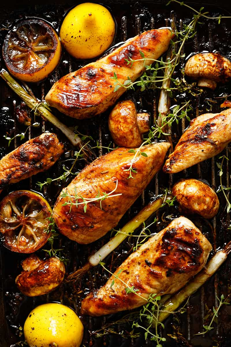 Healthy Tuscan Grilled Lemon Chicken with Vegetables   31Daily.com