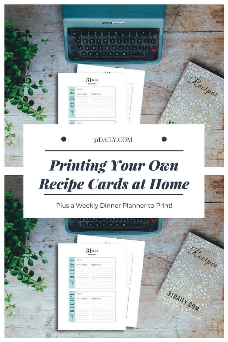 How to Print Your Own Recipe Cards at Home | 31Daily.com