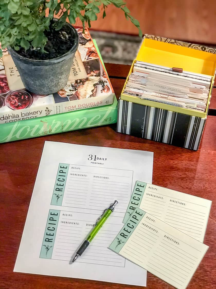 How to Print Your Own Recipe Cards at Home   31Daily.com