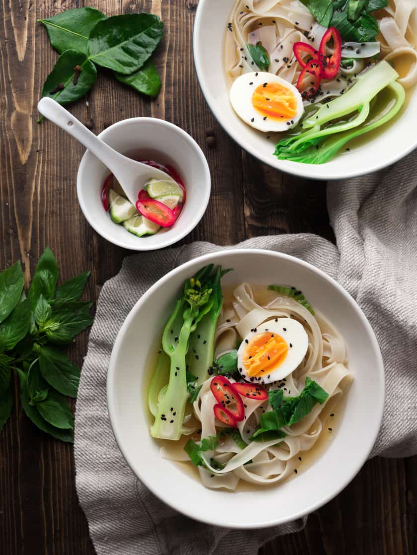 Asian Rice Noodle Soup with Bok Choy and Thai Nam Prik | 31Daily.com