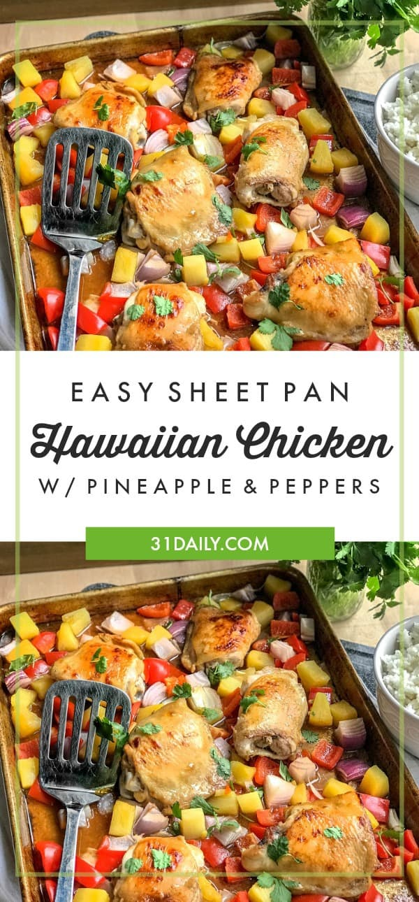Easy Sheet Pan Hawaiian Chicken | 31Daily.com