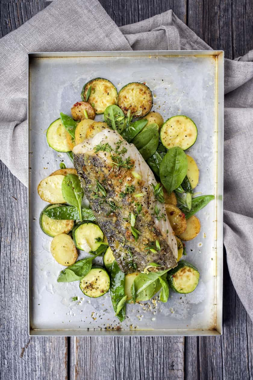 Easy Sheet Pan Baked Fish with Vegetables | 31Daily.com