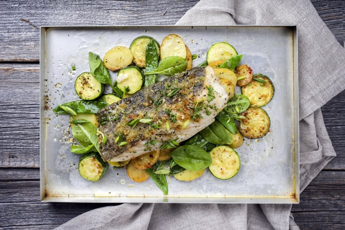 Easy Sheet Pan Baked Fish with Vegetables