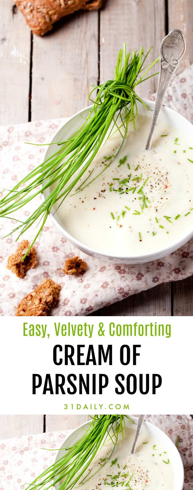 Cream of Parsnip Soup: Irresistibly Easy, Velvety, and Comforting | 31Daily.com