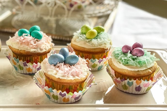 Easter Egg Nest Cupcakes Make Darling and Easy Treats