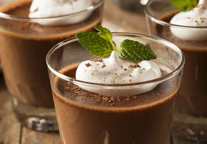 Easy 5 Minute Irish Mint Chocolate Mousse
