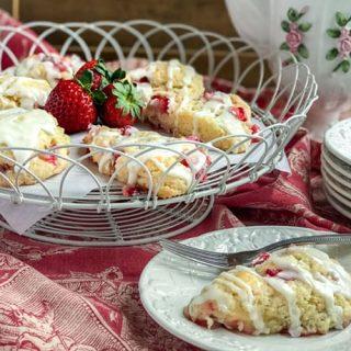 Buttermilk Strawberry Scones | 31Daily.com