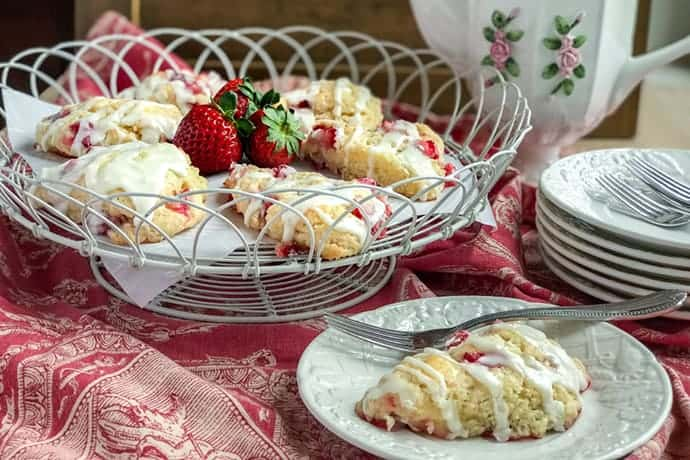 Buttermilk Strawberry Scones and a Virtual Baby Shower