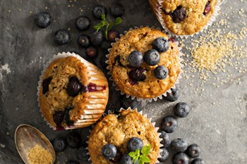 Healthy Whole Wheat Cinnamon Blueberry Muffins | 31Daily.com