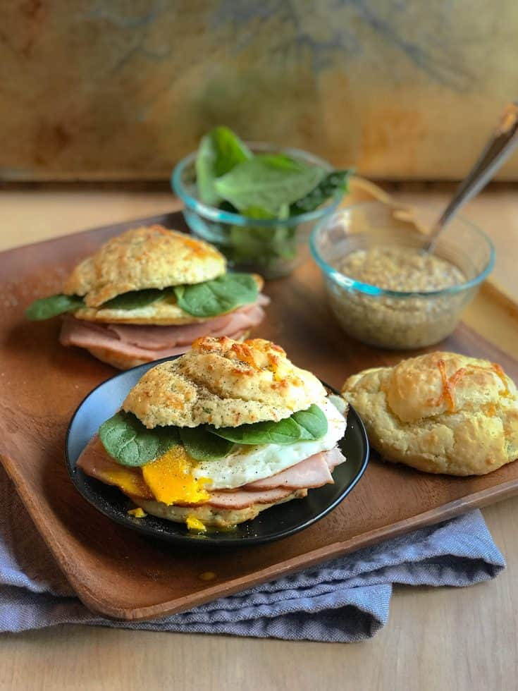 Cheddar and Onion Scottish Breakfast Sandwich