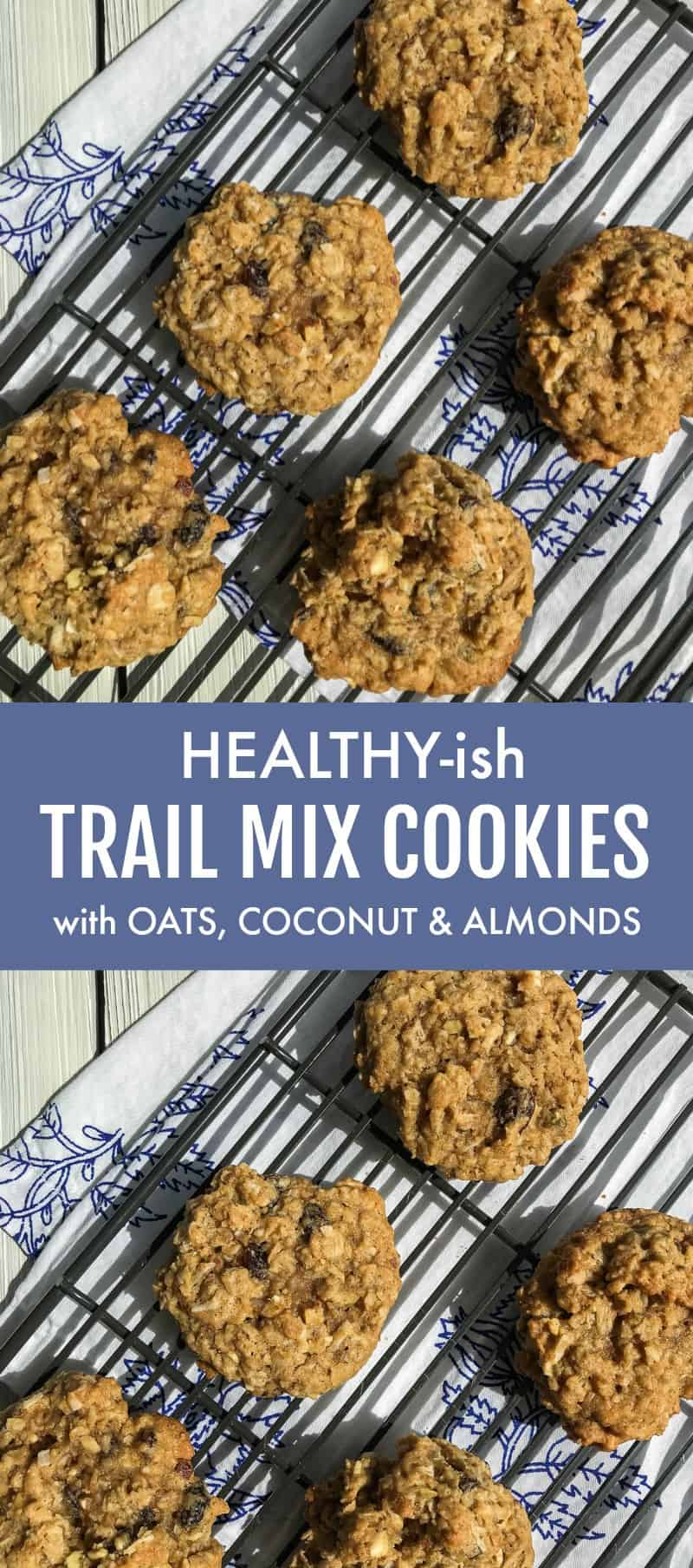 Healthy-ish Trail Mix Oatmeal Cookies with Coconut and Toasted Almonds | 31Daily.com