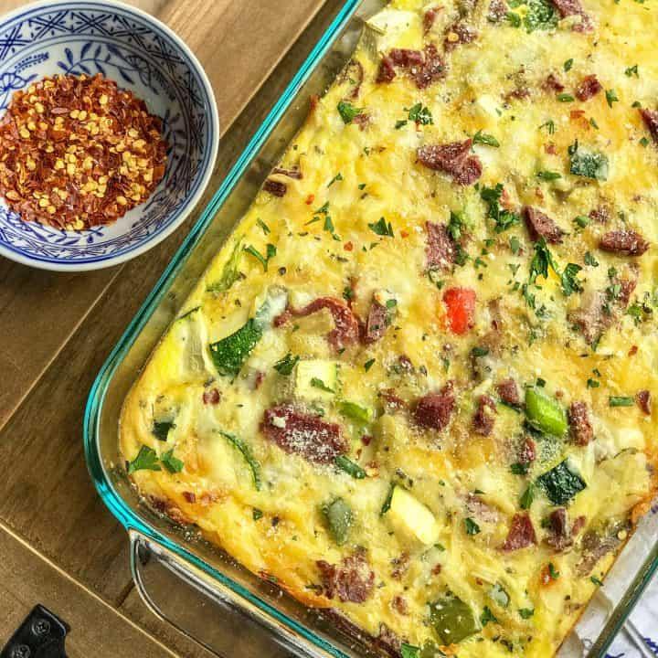 Make Ahead Easy Vegetable Egg Bake Breakfast Casserole