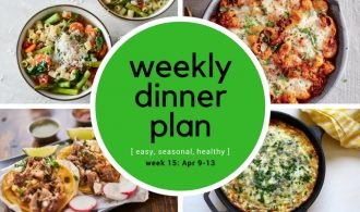 31Daily Weekly Dinner Meal Plan -- Week 15 | 31Daily.com