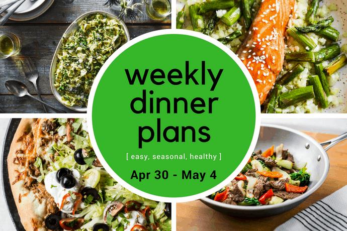 Weekly Dinner Meal Plan // Week 18 | 31Daily.com
