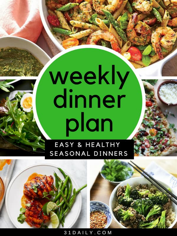 Weekly Dinner Plan // Week 20 | 31Daily.com