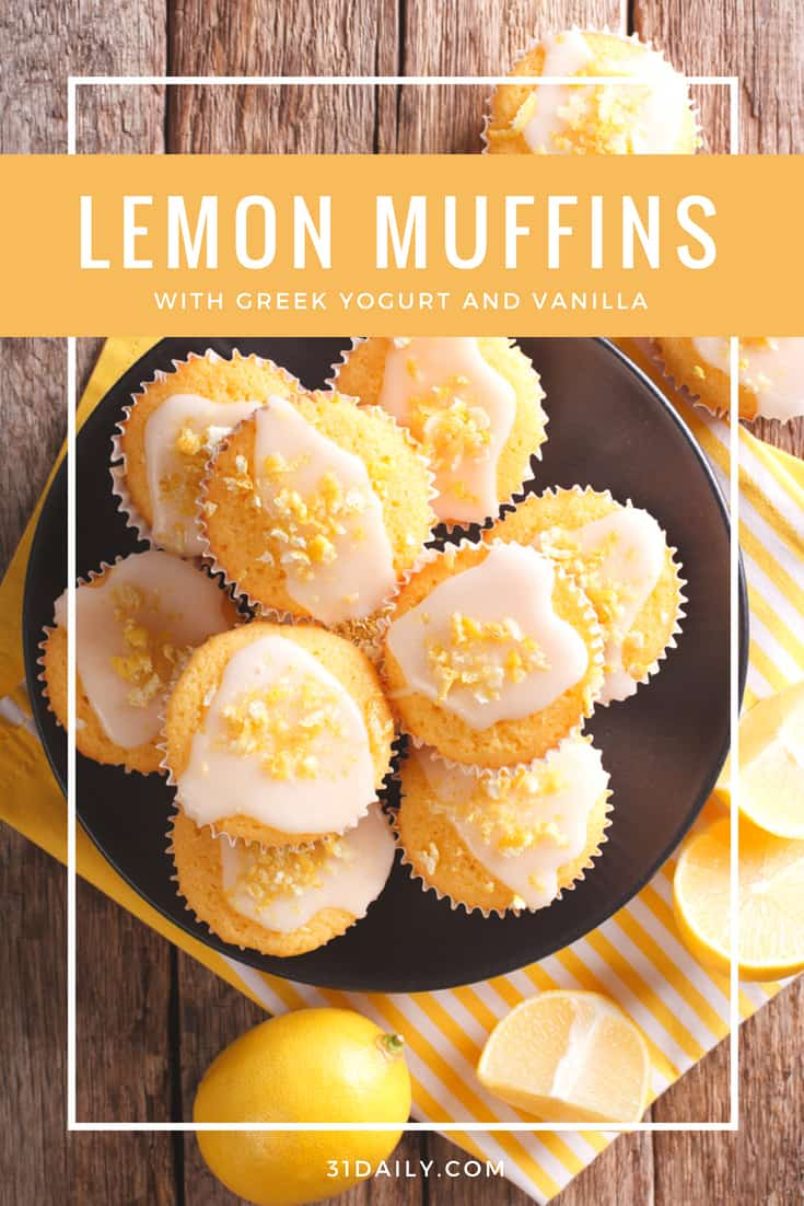 Amazingly Delicious Greek Yogurt Lemon Muffins with Vanilla | 31Daily.com