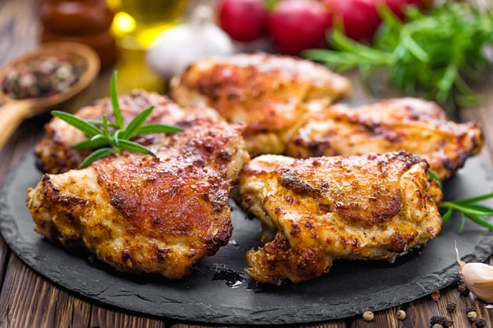 Easy Grilled Lemon Chicken Thighs with Fresh Herbs | 31Daily.com
