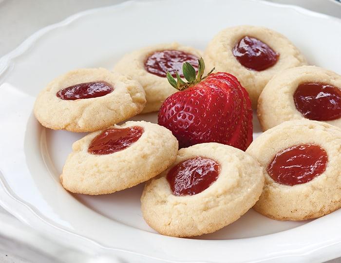 Tea Cake Thumbprint Cookies