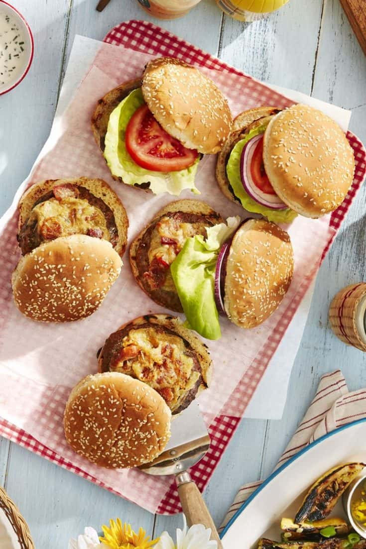 Worcestershire-Glazed Burgers