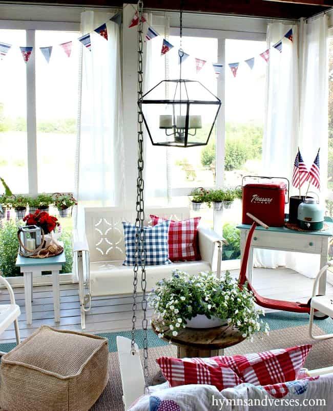 summer patriotic porch