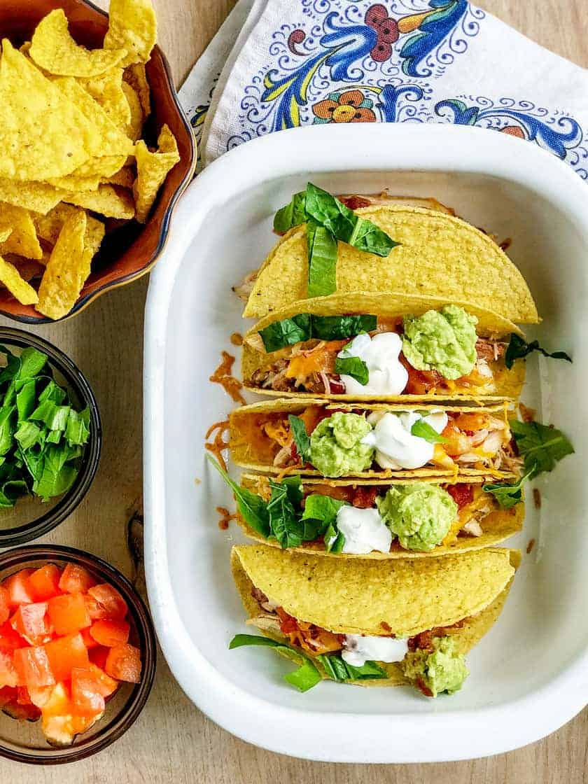 Quick and Easy Oven Baked Chicken Tacos | 31Daily.com