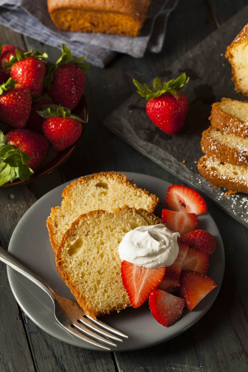 Simple Homemade Pound Cake with Strawberries | 31Daily.com