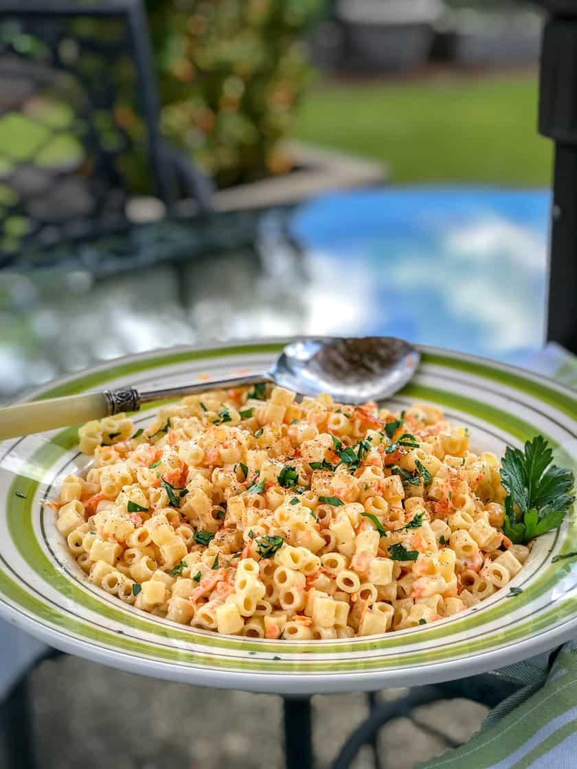 Summer Easy Pasta Salad with Shredded Carrots