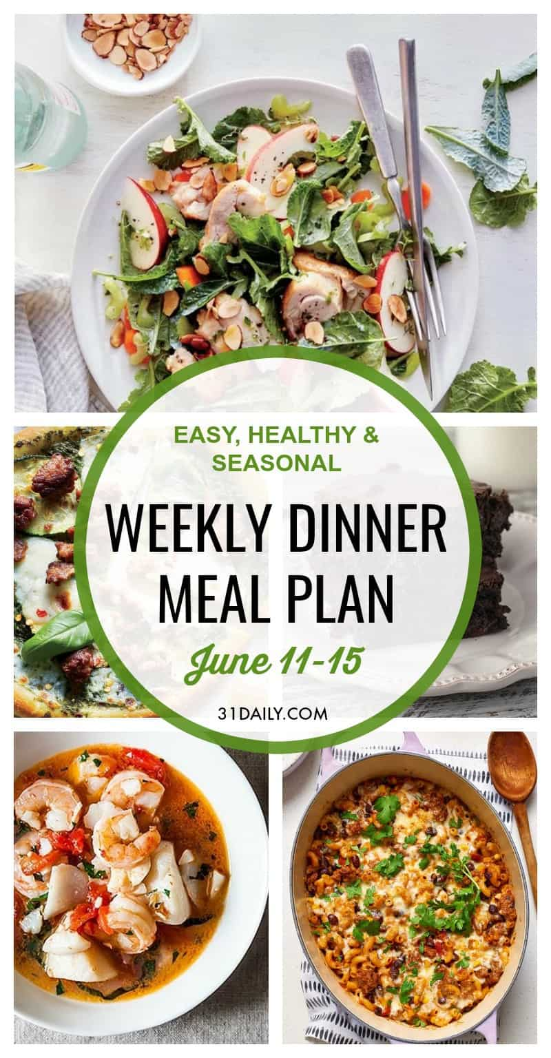 Weekly Dinner Meal Plan // Week 24 | 31Daily.com