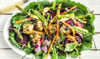 An Antipasto Style Summer Garden Roasted Salad